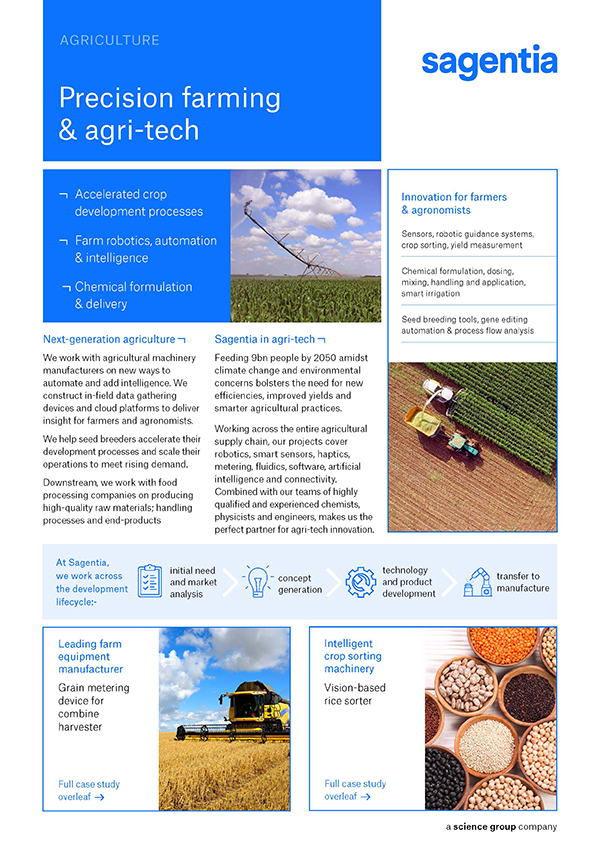 Sagentia in Agri-tech
